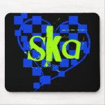 ska : chequered heart : mousepad
