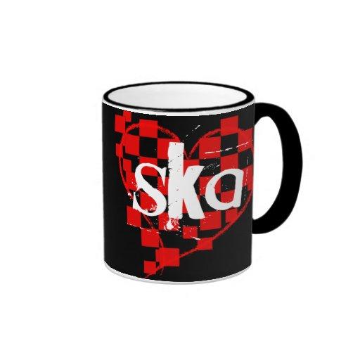 ska : chequered heart : ringer mug