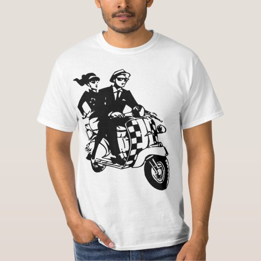 Ska Couple on Scooter T-Shirt
