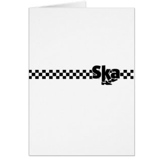 SKA Dancing Feet with Checkers Card