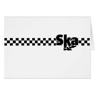 SKA Dancing Feet with Checkers Greeting Card