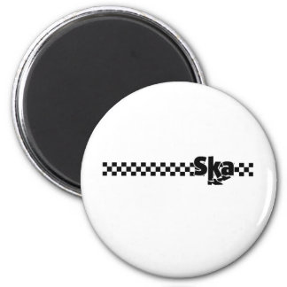 SKA Dancing Feet with Checkers Magnet