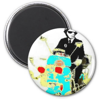 Ska On A Scoot 6 Cm Round Magnet
