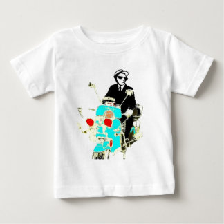 Ska on a Scoot. The 80's Ska man driving a scooter Baby T-Shirt