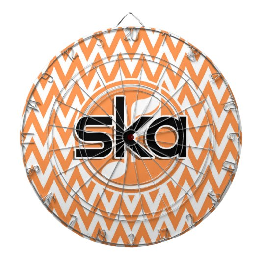 Ska; Orange and White Chevron Dartboard