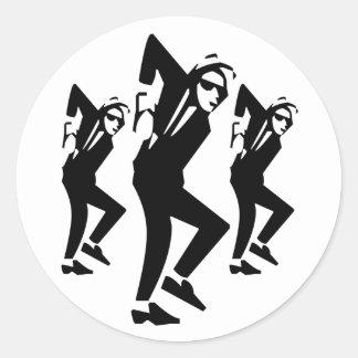 Ska Rude Boy Dancing (pack of 6/20) Classic Round Sticker