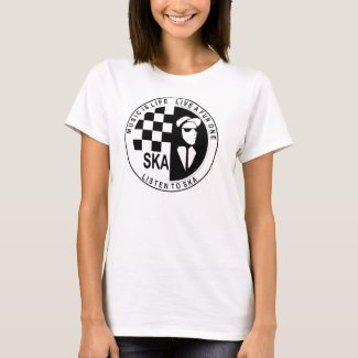 Music is Life Listen To Ska Ladies T-shirt