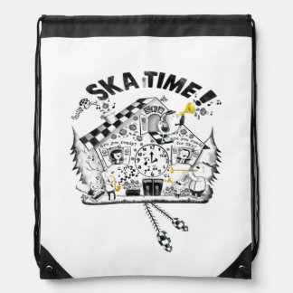 Ska Time Cuckcoo Clock Drawstring Bag