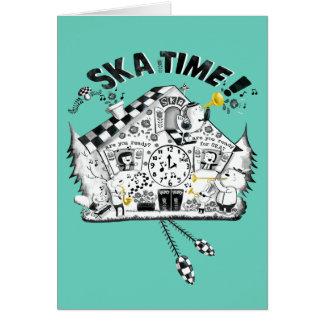 Ska Time Cuckoo Clock Greeting Cards