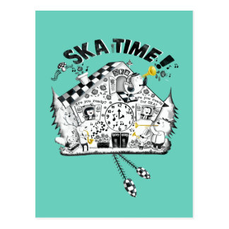 Ska Time Cuckoo Clock Postcards