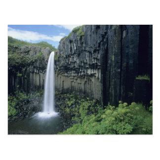 Skaftafell National Park, Svartifoss waterfall, Postcard