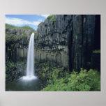 Skaftafell National Park, Svartifoss waterfall, Posters