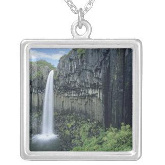 Skaftafell National Park, Svartifoss waterfall, Silver Plated Necklace