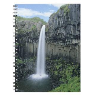 Skaftafell National Park, Svartifoss waterfall, Spiral Notebook