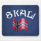 Skal Norwegian Flag Norway Drinking Toast Mouse Mat