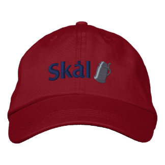 Skal! Scandinavian Drinking Toast Embroidered Hat