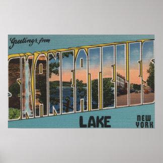 Skaneateles Lake, New York - Large Letter Scenes Poster