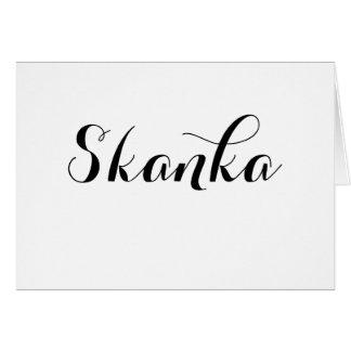 Skanka Typography Card