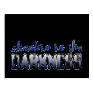 Skankin in the Darkness DUBSTEP DANCE Postcard