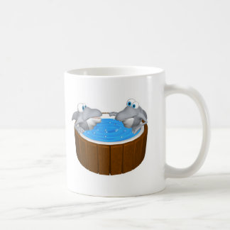 skarks in hot tub basic white mug