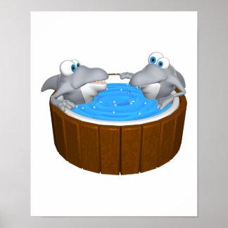 skarks in hot tub poster