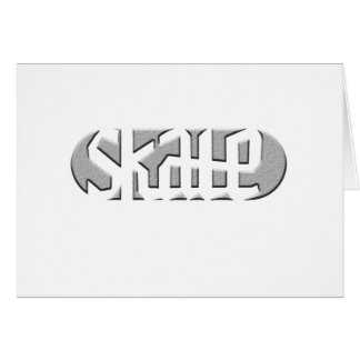 SKATE 1 GREETING CARD