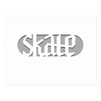SKATE 2 POSTCARD