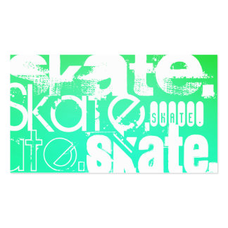 Skate; Aqua, Neon Green Gradient Pack Of Standard Business Cards