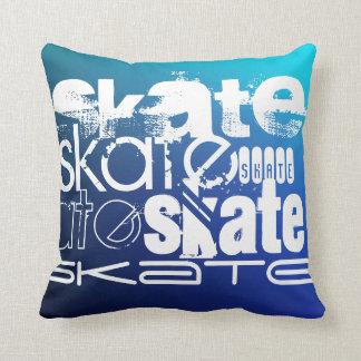 Skate; Blue Gradient Cushion