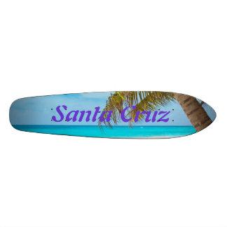 Skate Board Beach Ocean Palm Tree - Santa Cruz