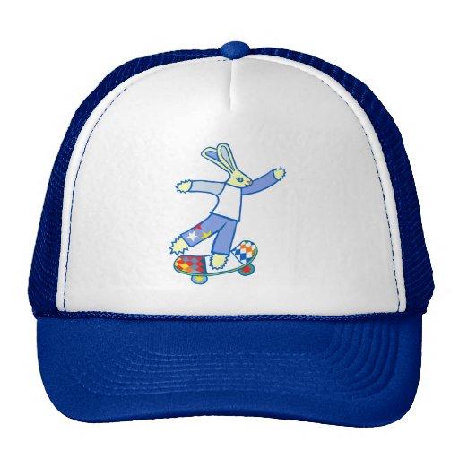 Skate Board Bunny Mesh Hats