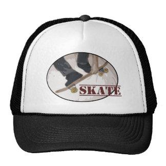 Skate Board Round Mesh Hat