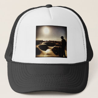 skate boarding in hollywood trucker hat