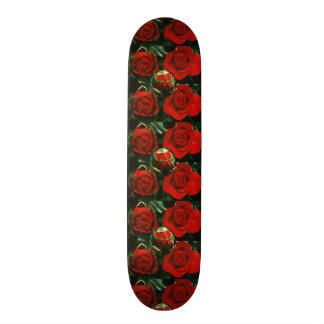 """Skate Borarding Deck Type: 7¾"""" DARK RED ROSES Skateboard Decks"""