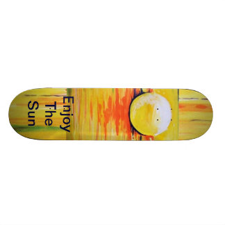 Skate broad,skate, the sun, enjoy the sun, yellow skate deck