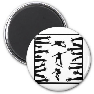 Skate Crowd 6 Cm Round Magnet