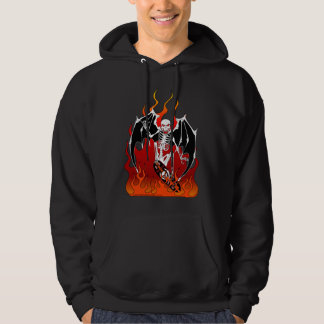 Skate Death - Skeleton on Skateboard Hoodie