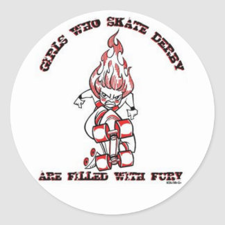 Skate Derby Round Sticker