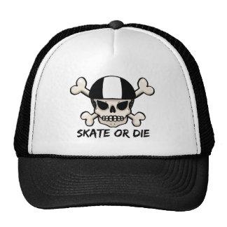 Skate or die skull and crossbones cap