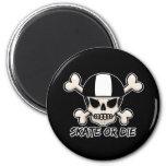 Skate or die skull and crossbones magnets