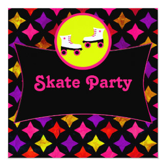 Skate Party 13 Cm X 13 Cm Square Invitation Card