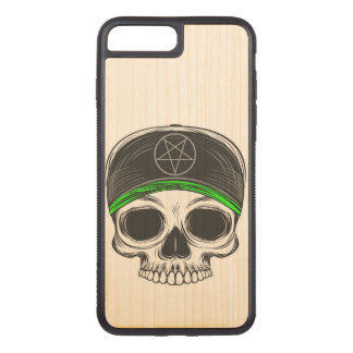 Skate Rock Skull Carved iPhone 7 Plus Case