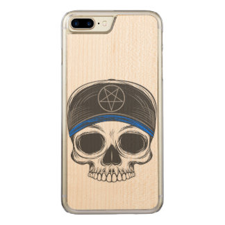 Skate Rock Skull Carved iPhone 8 Plus/7 Plus Case