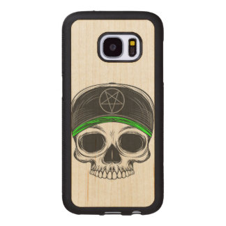 Skate Rock Skull Wood Samsung Galaxy S7 Case
