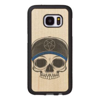Skate Rock Skull Wood Samsung Galaxy S7 Case