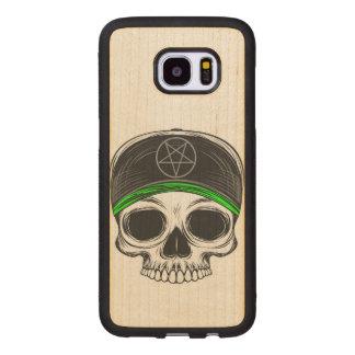 Skate Rock Skull Wood Samsung Galaxy S7 Edge Case