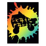 skate splatz party invitation postcard