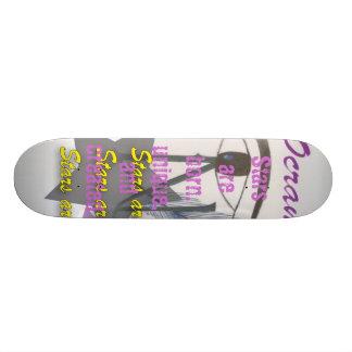 skate, Stars are born, unique, and created Skate Board Deck