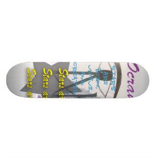 skate, Stars are born, unique, and created Skateboard
