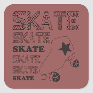 Skate Stickers! Square Sticker